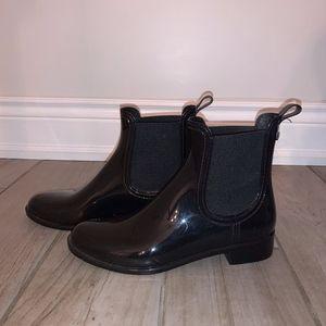Patent Black Chelsea Boots